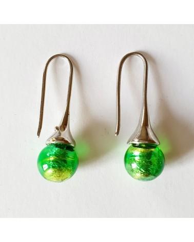 Boucles d'oreilles Campanella couleur verte bijoux fantaisie