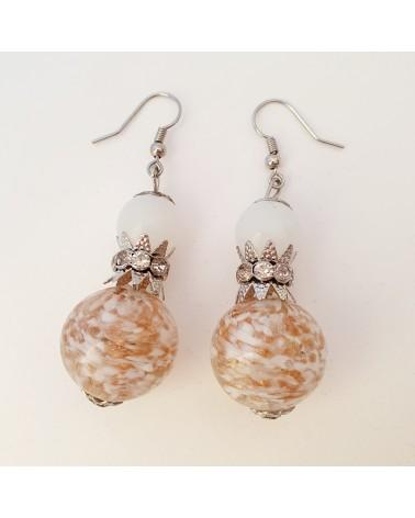 Boucles d'oreilles model unique en verre de Murano, bijoux fantaisies
