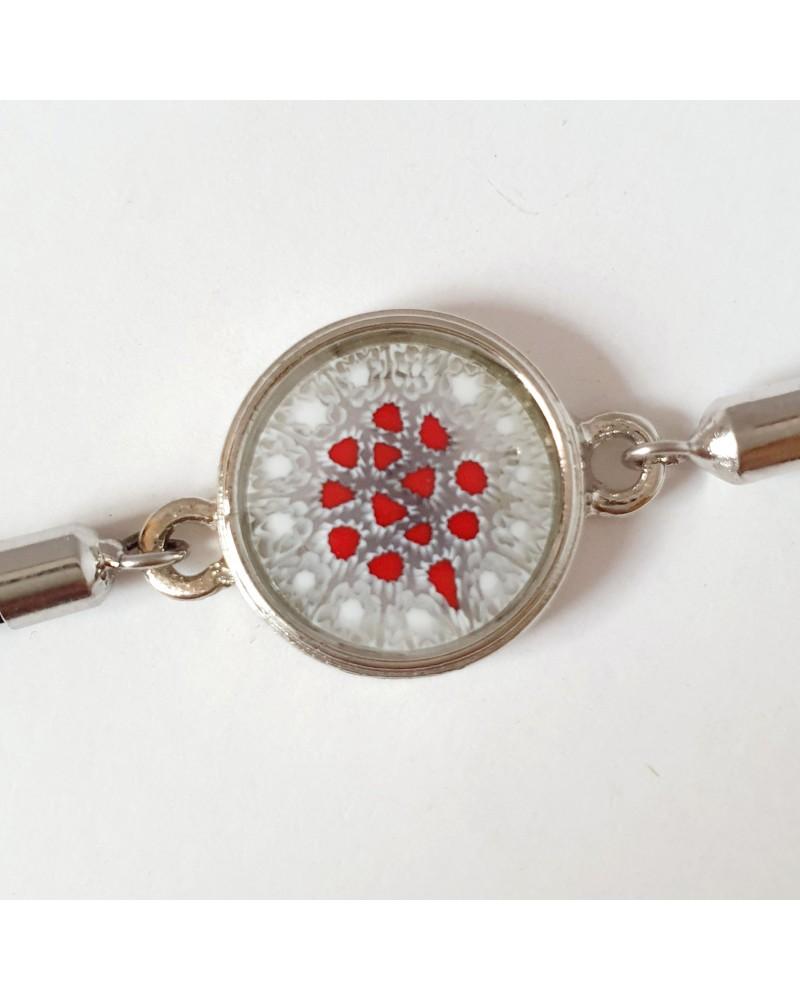 Bracelet cordon et murrina en verre de Murano bijoux fantaisies créateurs italiens