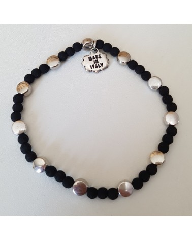 Bracelet lave volcan  Sicile motif rond  bijoux fantaisies