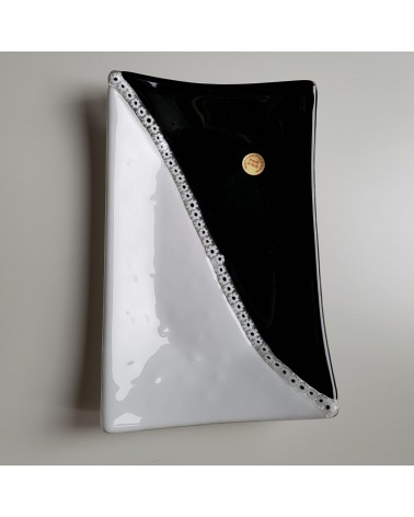 plat rectangulaire yin yang  verre  Murano objets fait à la main