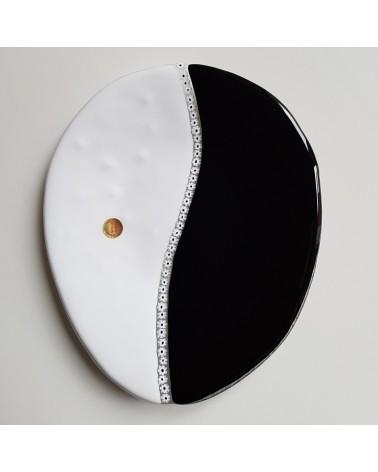 plat ovale yin yang verre Murano objets fait à la main