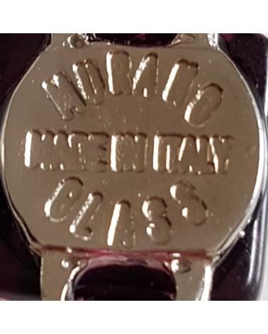 bracelet cuir verre Murano rouge italie bijoux