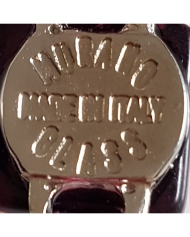Bracelet en cuir-verre de Murano-bordeaux- rond-fait à la main- Made in Italy