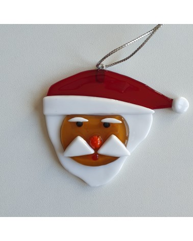 Décoration de Noël en verre de Murano père Noël objets fait main