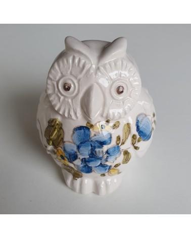 Chouette hibou en céramique de Lodi artisan italien objet décoration