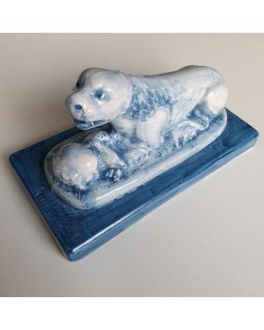 Lion en céramique de Lodi artisan italien objet décoration